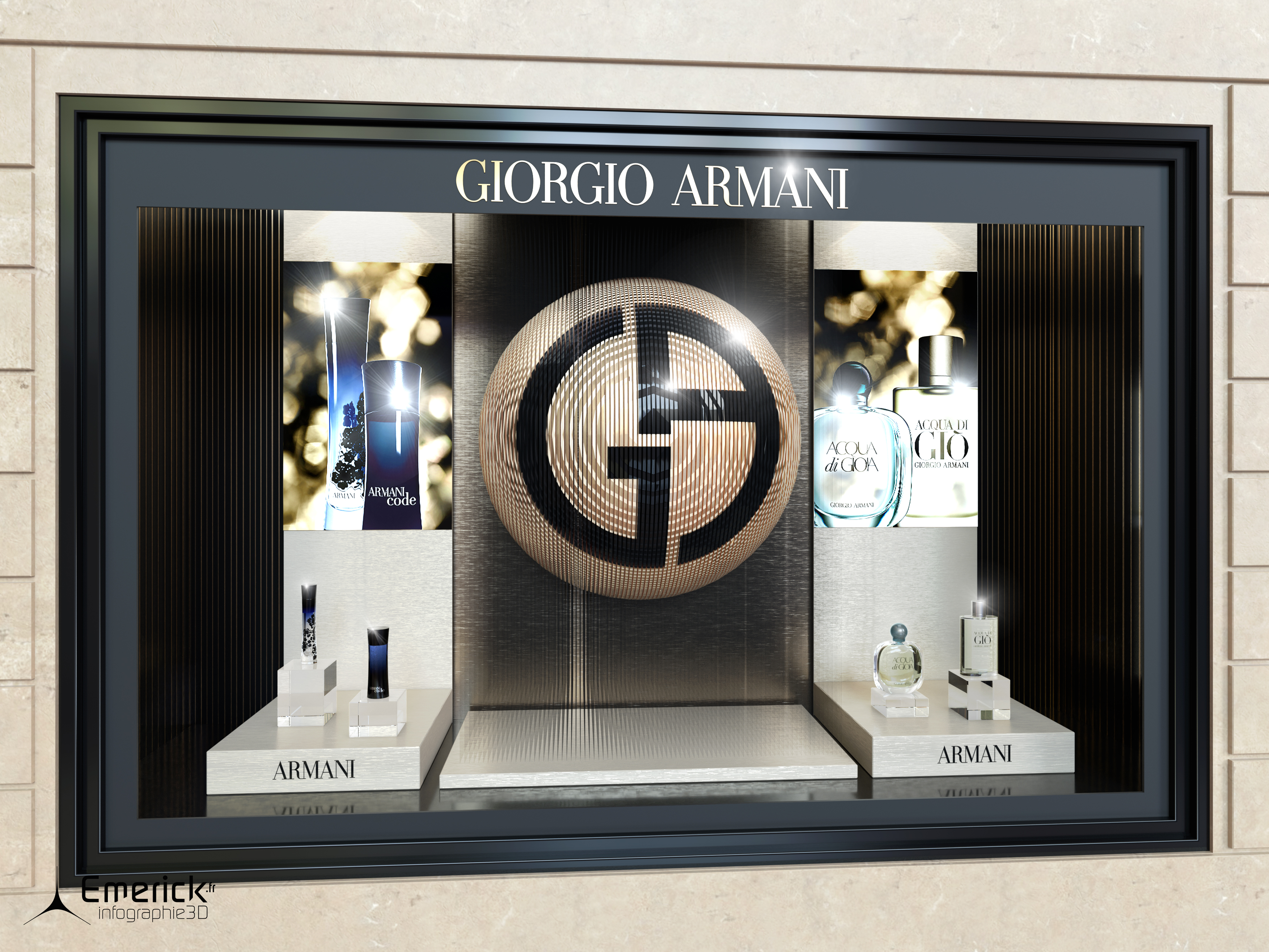Vitrine Giorgio Armani
